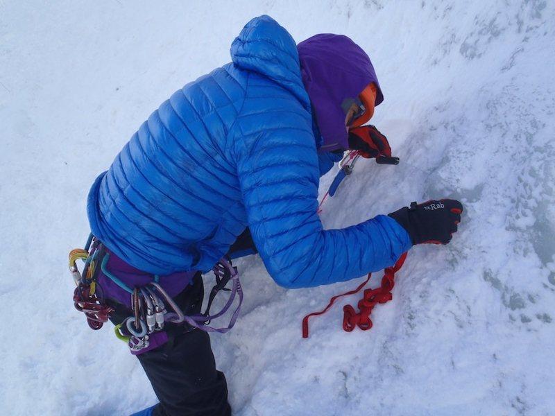 Rock Climbing Photo: v-thread practice