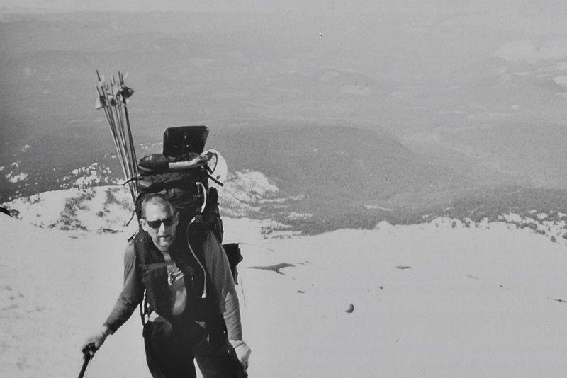 Rock Climbing Photo: Ron on Mt. Adams, June 1999