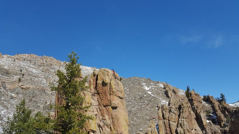 Rock Climbing Photo: Don't forget to mantel up on top of Rapunzel at th...