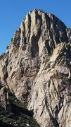 Rock Climbing Photo: South Face of South Rabbit Ear viewed from Low Hor...