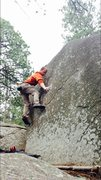 Rock Climbing Photo: A different way to climb the face.