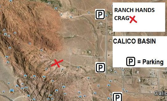 Ranch Hands Crag Parking and Approach