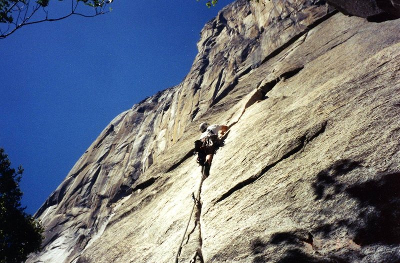 Rock Climbing Photo: El Cap base route.