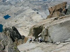 Rock Climbing Photo: Brad B. and Walter P. on the T-bolt to Sill traver...