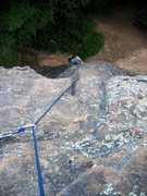 Rock Climbing Photo: Cleaning up the sparse gear on Camel's Hump