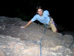Rock Climbing Photo: Topping out Camel's Hump