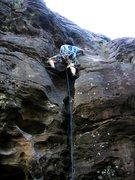 Rock Climbing Photo: Leading Makanda Layback