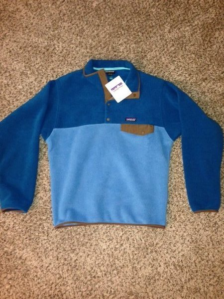 mens medium synchilla snap t pullover