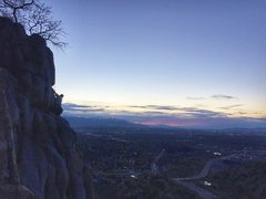 Rock Climbing Photo: MG near top of Gad Chutes from Lying Crack