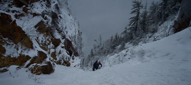 Rock Climbing Photo: Shoestring Gully, NH