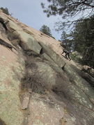 Rock Climbing Photo: Tim sussing out the route.