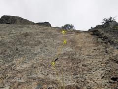 Rock Climbing Photo: Munge Master, taken from below the 2nd bolt. Crux ...