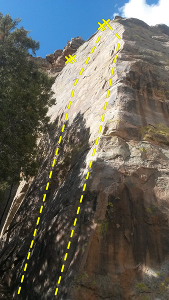 "Rock Climbing Photo: 2 bolted routes left of ""Corner.""  The l..."