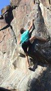 Rock Climbing Photo: Entering the crux move