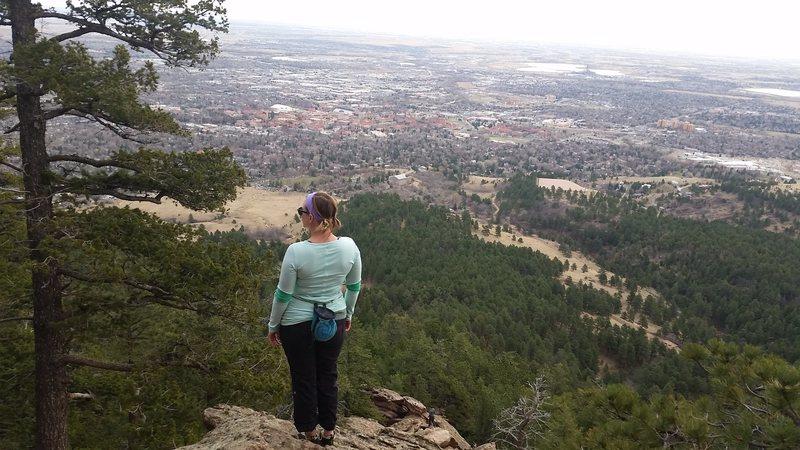 Rock Climbing Photo: Second Flatiron, looking over boulder