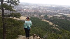 Rock Climbing Photo: Second Flatiron, looking over boulder