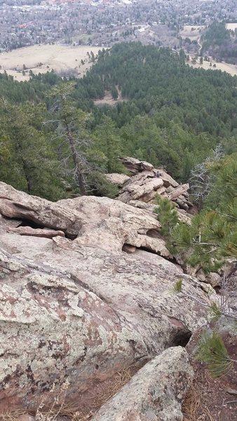 Rock Climbing Photo: Looking down the second flatiron.