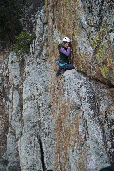 Rock Climbing Photo: A rare sighting of Laren Cyphers on a rope!