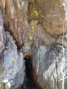 Rock Climbing Photo: The little route in the cave