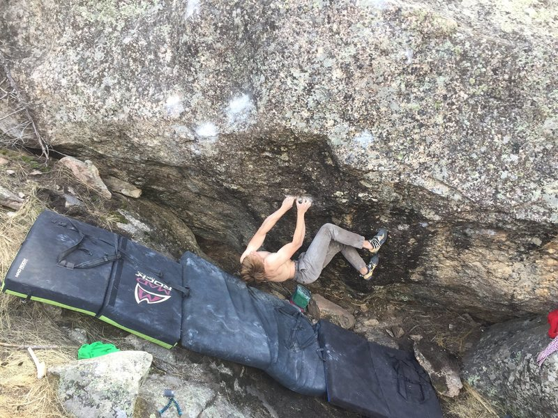 Rock Climbing Photo: Kepler getting after it.