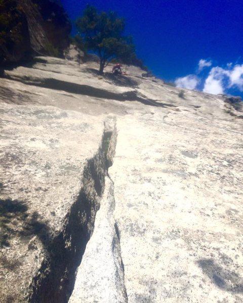 Rock Climbing Photo: Awkward belay.