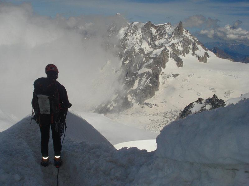Rock Climbing Photo: About to descend the Midi ridge.