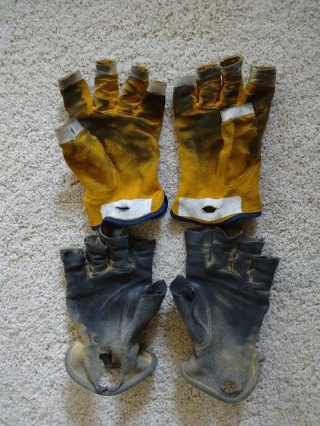 Rock Climbing Photo: diy belay/rappel gloves
