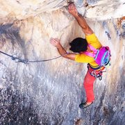 Rock Climbing Photo: Dylan Connole on the top section of the second pit...