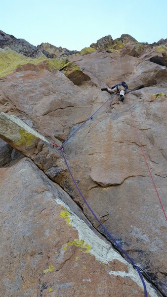 Rock Climbing Photo: P3, John leading