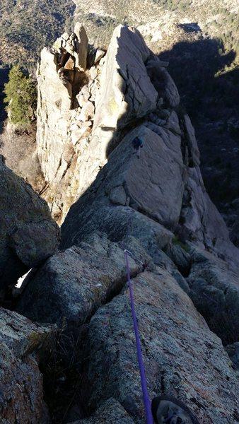 Rock Climbing Photo: John on the Knife Blades