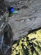 Rock Climbing Photo: Last pitch from the top (the angle makes this look...