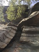 "Rock Climbing Photo: pitch 2 ""v"""