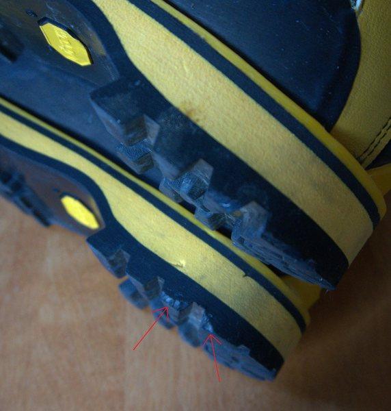 Rock Climbing Photo: Cosmetic heel damage