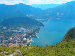 Rock Climbing Photo: The north end of Lago Garda with Nago and Torbole ...