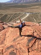 Rock Climbing Photo: What? You don't do yoga at the top of your climbs?