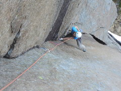 Rock Climbing Photo: Lisa following another stupendous pitch on Odins B...