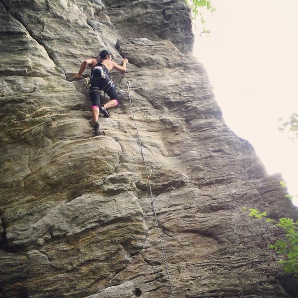 Farley Ledges-near the bat cave on a 5.8-5.9 (cause really...who knows?)