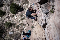 Rock Climbing Photo: Cale onsighting.