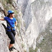 Rock Climbing Photo: At the new route Time for War, on Timewave Buttres...