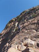 Rock Climbing Photo: low on pitch two, photo by Kurt Johnson