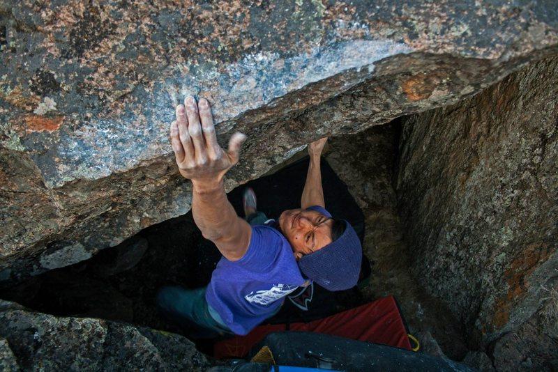 Rock Climbing Photo: Hitting the lip of Montana's Most Wanted. Photo: M...