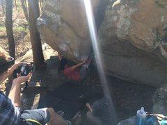 Rock Climbing Photo: Bethyn on Diesel Power
