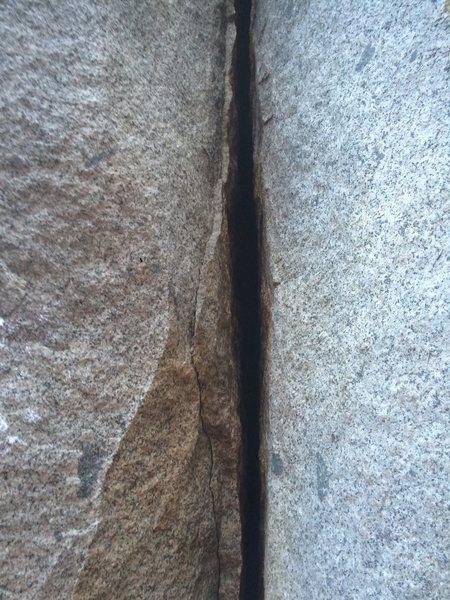 Rock Climbing Photo: Splitter!!