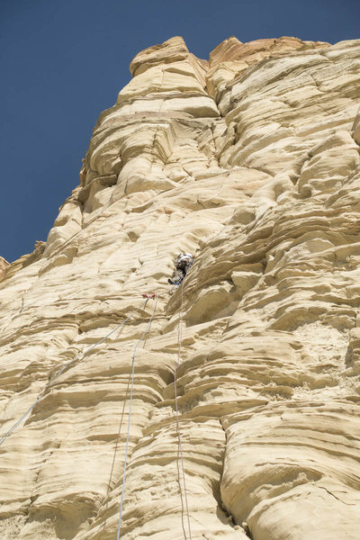 Rock Climbing Photo: Roy Suggett starting up P2. We're not in Castle Va...