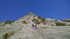 Rock Climbing Photo: looking up at the 5.10b pitch of urban bypass. Gre...