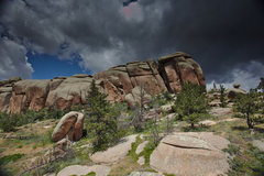 Rock Climbing Photo: Cupcacke, the Robbins Crack of Vedauwoo.