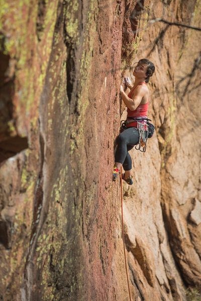 Rock Climbing Photo: The first bolt is up there, be careful. Photograph...