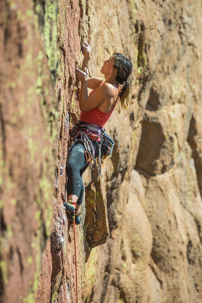 Rock Climbing Photo: There are some Phenomenal holds on this route and ...