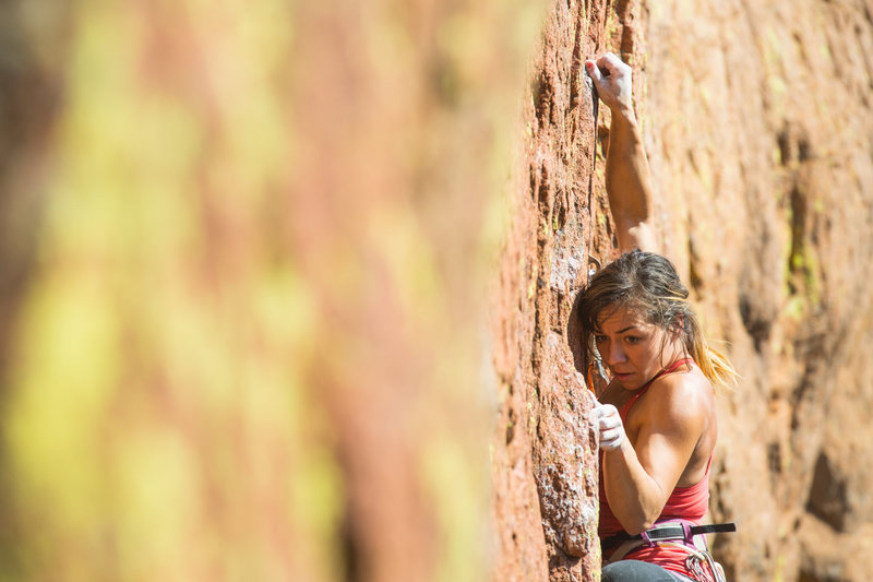Rock Climbing Photo: The route requires strength, balance, and enduranc...