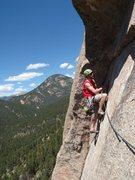 Rock Climbing Photo: Hanging onto hollow rock!
